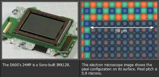 尼康D600遭拆解 证实使用索尼IMX128传感器