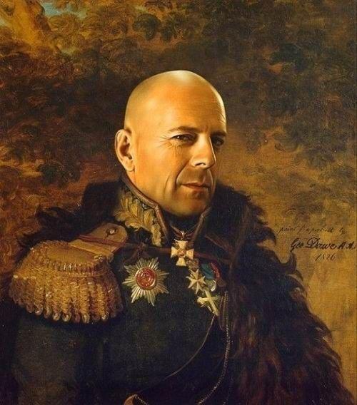 威武俄罗斯将军!逼真的名人PS戎装照