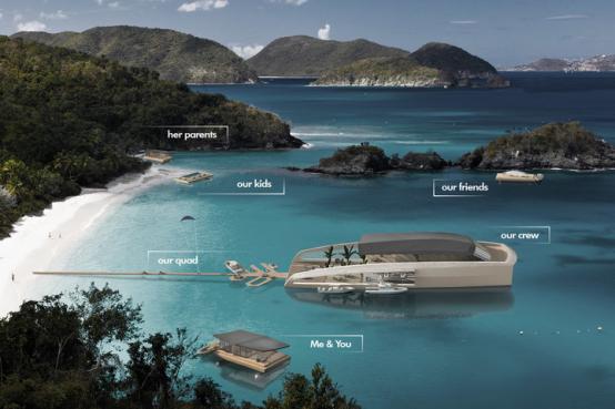 漂浮的水上豪宅!这是款可自由拼装的模块化游艇