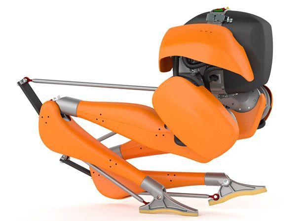 这个是一个只有两条腿的机器人 可以送一天快递