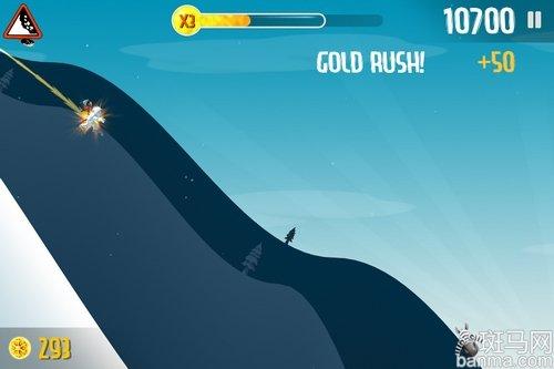 耳目一新的体育游戏iphone滑雪大冒险_数码_防滑的篮球鞋