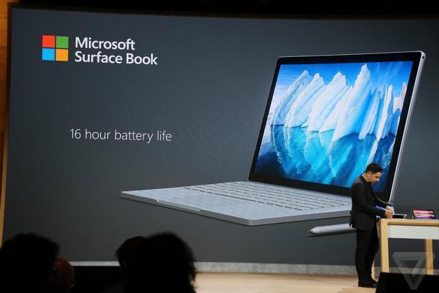 微软发新SurfaceBook i7处理器+16小时续航