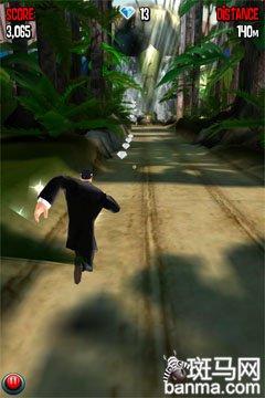 跑酷中的007 iPhone游戏特工跑酷试玩