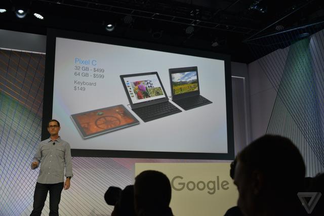 谷歌Pixel C平板电脑发布 也配上了实体键盘