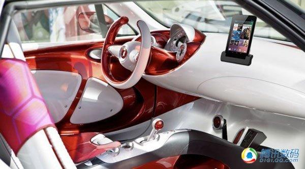 平板电脑充当smart汽车仪表盘 新本猎奇 超强保护箱让任何 高清图片
