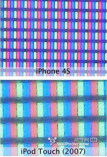 显微镜下的全新iPad Retina显示屏