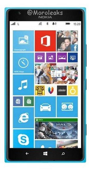 11月开卖 湖蓝色诺基亚Lumia1520官方图曝光