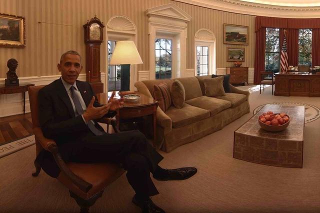 厉害了我的奥巴马 他用VR视频带大家逛白宫