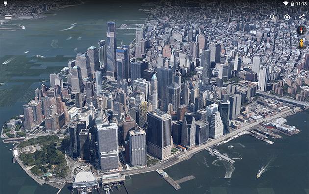 安卓版谷歌地图升级 运行更快3D视图更完美
