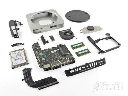 新款Mac Mini拆解 可改装成服务器版本