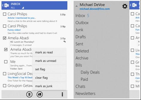 Android版Outlook更新 支持离线邮件到本地