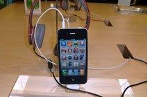 现场展示的iPhone 4