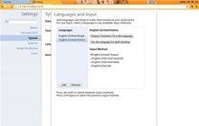 语言和键盘设置