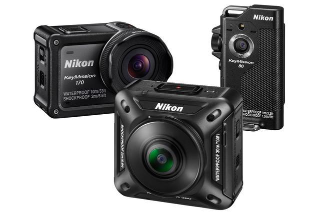 挑战GoPro!尼康推出三款便携式运动相机