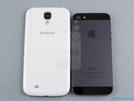 苹果5与三星s4�:/�_三星galaxys4与苹果iphone5整体外观对比