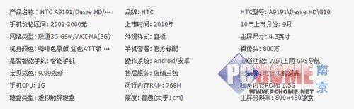 港版HTC A9191/渴望HD黑色仅售2300元
