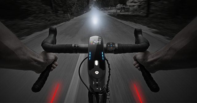 夜间骑行首选 红色激光感应功能更是炫酷