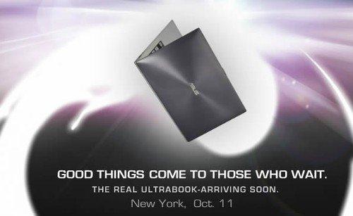 华硕Ultrabook系列笔记本10月11日发布