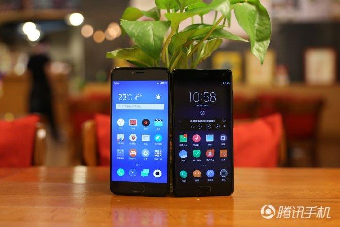 魅族Pro 6(左)、ZUK Z2 Pro(右)