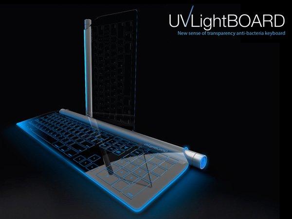 可以自消毒的紫外线键盘:终于比马桶干净了