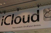 会场内的iCloud横幅