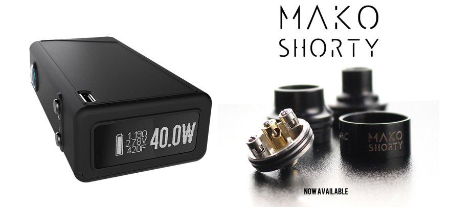 VaporShark rDNA40调压盒+MAKO SHORTY滴油雾化器
