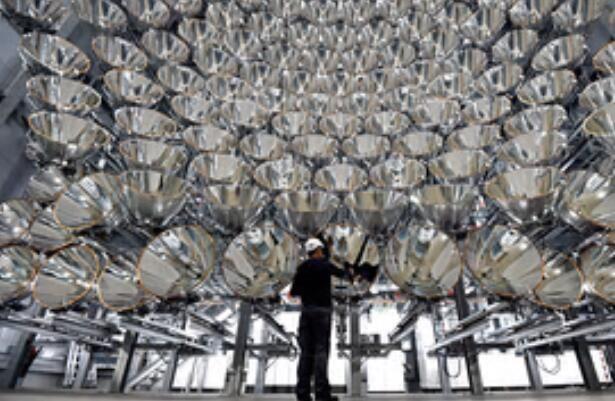 """德国打造""""最大人造太阳"""" 利用太阳光制造氢燃料"""