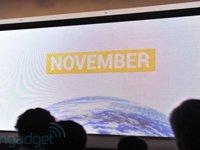 11月首先在美国、欧洲和亚洲上市