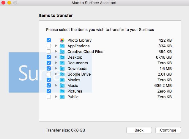 微软悄然发布Mac至Surface数据迁移工具