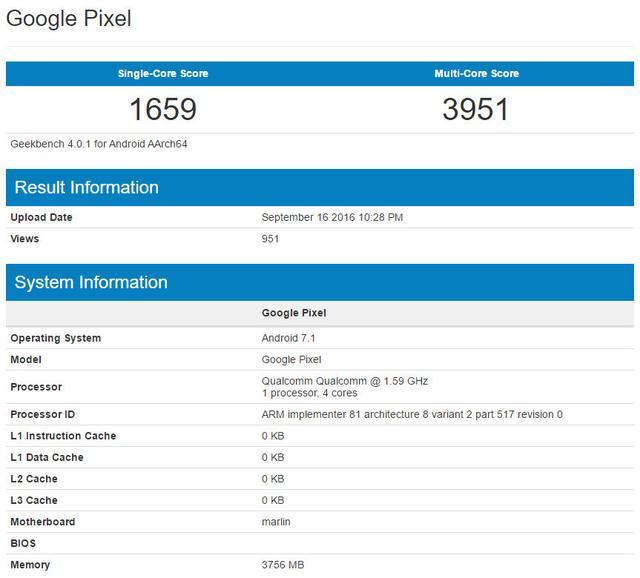 谷歌Pixel XL确认搭载安卓7.1 双镜头或被取消