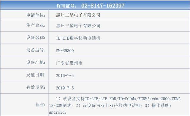 三星Note 7国行获入网许可 传8月20日开卖