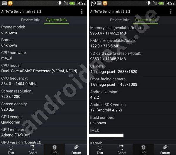 HTC One mini系统截图及真机曝光 或售3200元