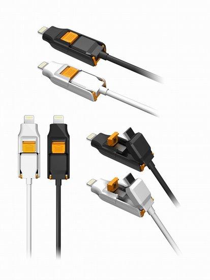 变形金刚数据线诞生 兼容闪电和microUSB接口