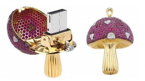 瑞士珠宝商发布神奇大蘑菇系列奢侈U盘