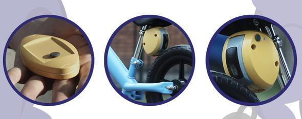 孩子學車不怕摔 可遠程控製的智能刹車裝置