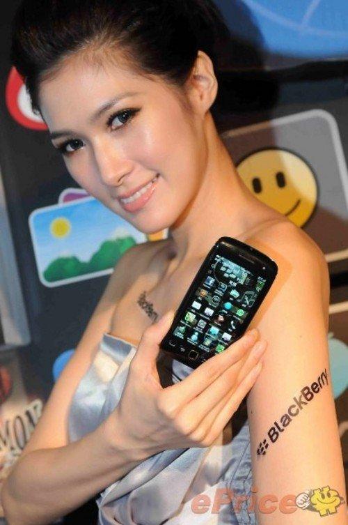 高挑大气面具秀BlackBerry7智美女美女鬼新机图片