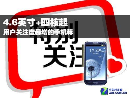 4.6英寸+四核起 用户关注度暴增的手机荐