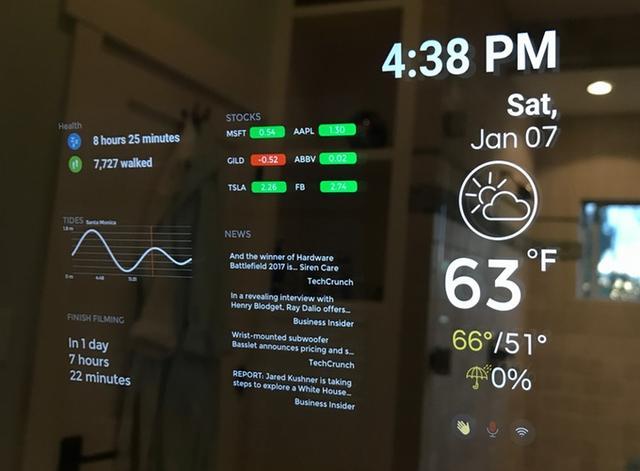 这款镜子能名正言顺的当平板用 搭载AI很好沟通