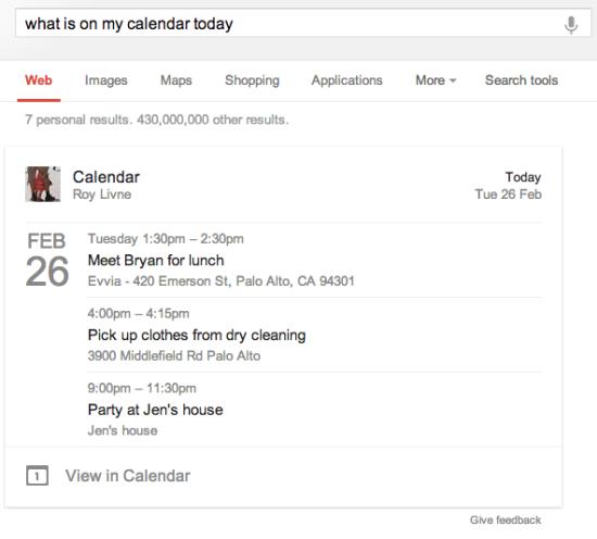 谷歌搜索新增个人日历事件 暂只对英美地区用户开放