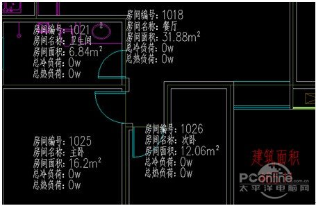 浩辰cad教程房间之暖通编号自动建模cad导入图c4d布置图片