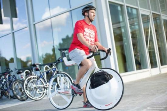 轮毂可载物的自行车问世了