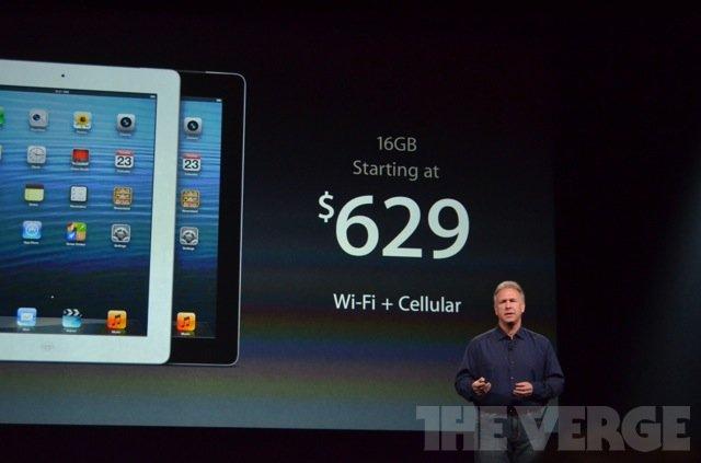 苹果发布第四代平板电脑 A6处理器视网膜屏幕