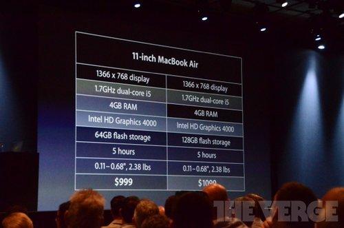苹果新MacBook Air今日开售 999美元起