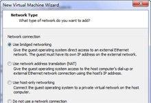 选择网络连接类型