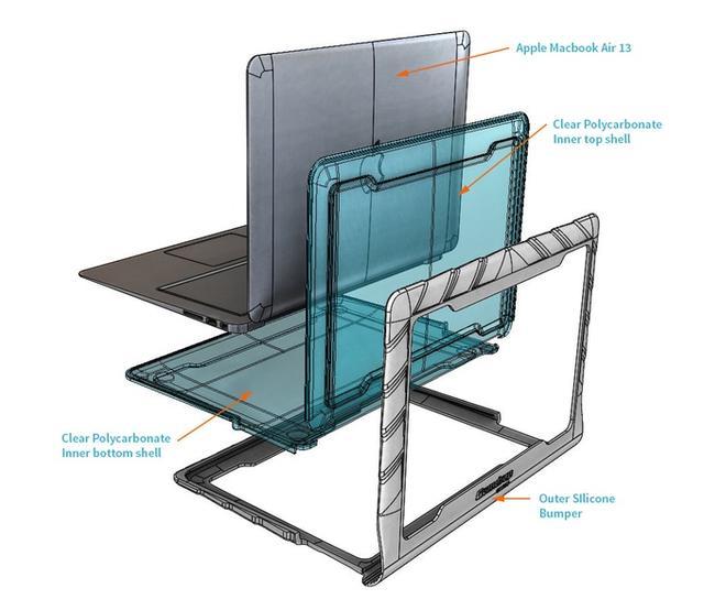 MacBook保护壳终极版 从此让你的笔记本摔不怕