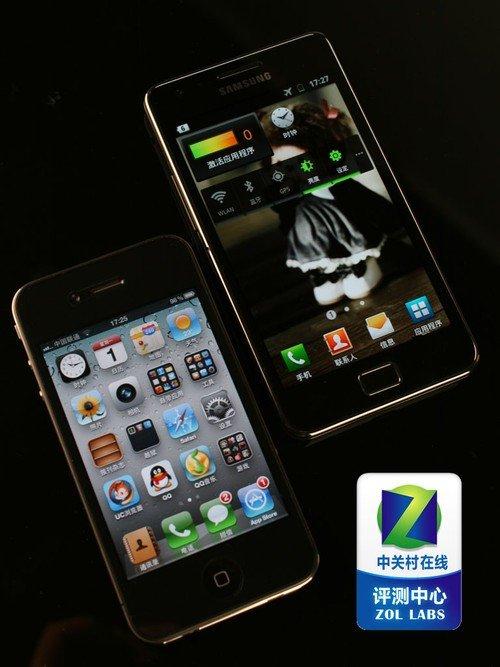 安卓苹果对比 GALAXY SII/iPhone对比
