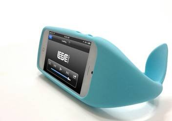 iPhone5专用可爱鲸鱼手机壳 尾巴用处多