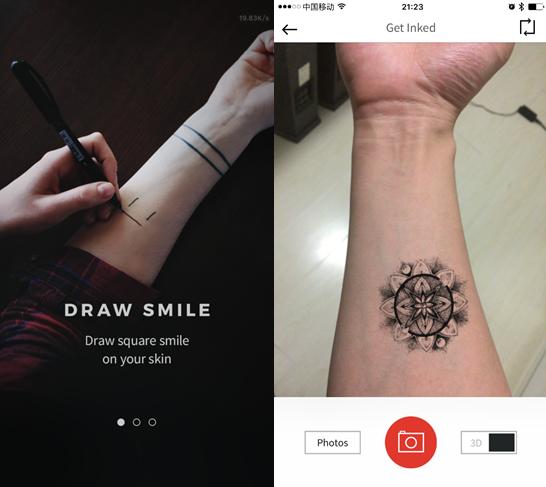 怕疼还想弄个纹身装x?你也许会喜欢这个app