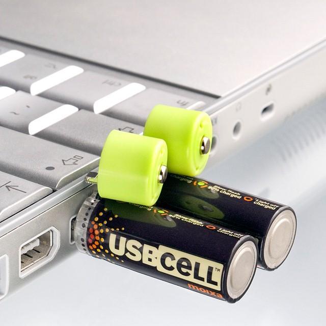 5号电池也带USB接口 插电脑上就能充电