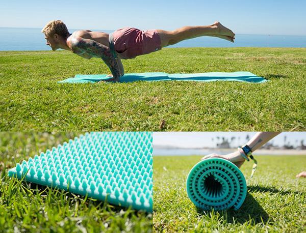 这不是一张简单的瑜伽垫 竟然还有按摩功能